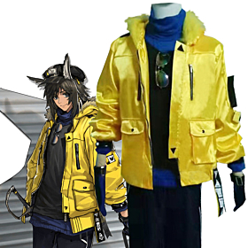 Arknights Courier New Routes Yellow Skin Cosplay Costume