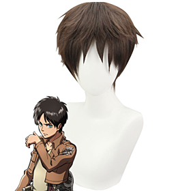 Attack On Titan Shingeki No Kyojin Eren Yeager Eren Yega Eren Jaeger Brown Cosplay Wig