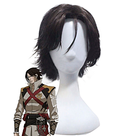 Castlevania Season 2 2018 Anime Trevor Belmont Morningstar Deep Brown Cosplay Wig