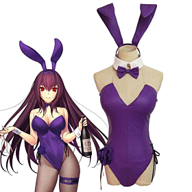 Fate Grand Order Assassin Lancer Scathach Rabbit Girl Cosplay Costume