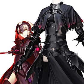 Fate Grand Order Fate Apocrypha Ruler Joan Of Arc Black Jeanne D'Arc  Cosplay Costume