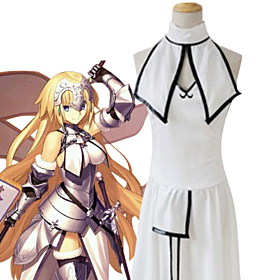Fate Grand Order Ruler Joan of Arc Jeanne d'Arc White Dress Cosplay Costume
