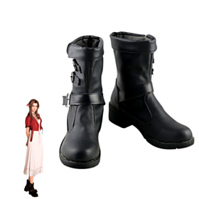 Final Fantasy VII Remake Aerith Gainsborough Black Cosplay Shoes