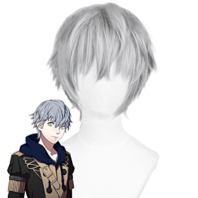 Fire Emblem: Three Houses Ashe Sliver Grey Cosplay Wig