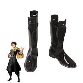 Fire Emblem: Three Houses Claude Von Regan Black Shoes Cosplay Boots
