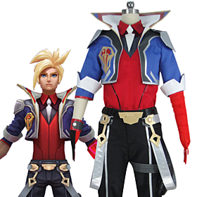 League of Legends LOL Battle Academia Ezreal Cosplay Costume