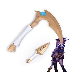 League Of Legends LOL K/DA Akali Double Sickle Cosplay Weapon Prop