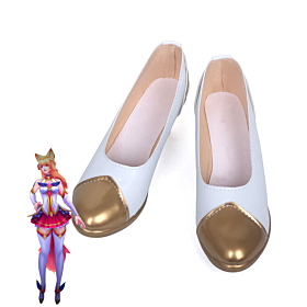 League of Legends LOL Star Guardian Ahri White Cosplay Shoes