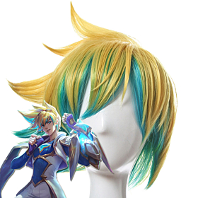 League of Legends LOL Star Guardian Ezreal Golden Blue Cosplay Wig
