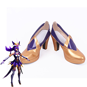 League of Legends LOL Star Guardian Syndra The Dark Sovereign Golden Cosplay Shoes