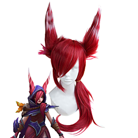 League of Legends LOL Xayah Red Cosplay Wig