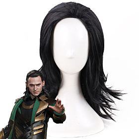 Marvel Thor 2: The Dark World Loki Black Cosplay Wig