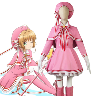 Cardcaptor Sakura: Clear Card Sakura Kinomoto Pink Lolita Dress Cosplay Costume