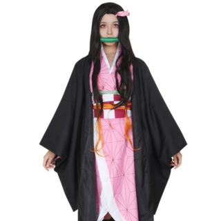 Demon Slayer: Kimetsu No Yaiba Nezuko Kamado Cosplay Costume
