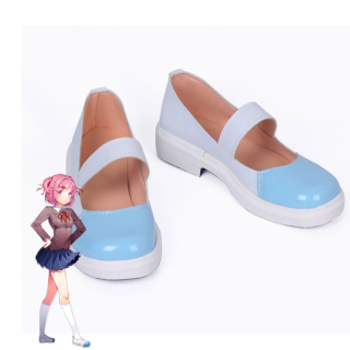 Doki Doki Literature Club! Sayori Natsuki Yuri White Blue Cosplay Shoes