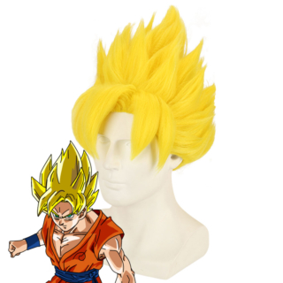 Dragon Ball Super Saiyajin Kakarotto Goku Yellow Cosplay Wig