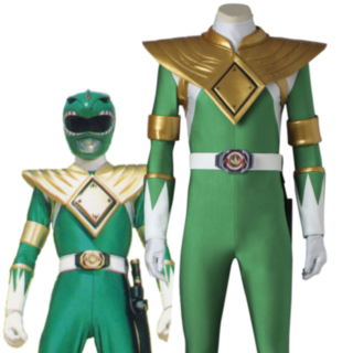 Mighty Morphin' Power Rangers Dragon Ranger Burai Cosplay Costume