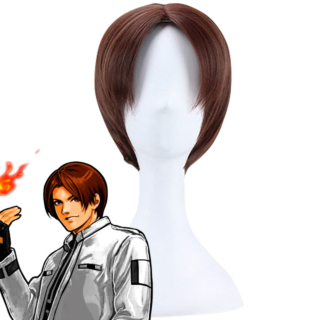 The King of Fighters Kyo Kusanagi Brown Cosplay Wig