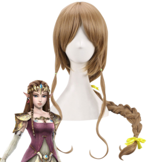 The Legend Of Zelda Zeruda No Densetsu Twilight Princess Princess Of Hyrule Zelda Zeruda Hime Brown Cosplay Wig